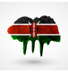 Flag of kenya painted colors vector