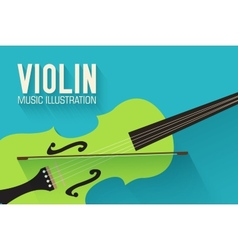 Flat violin guitar background concept vector