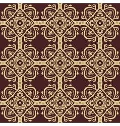 Damask seamless pattern orient background golden vector