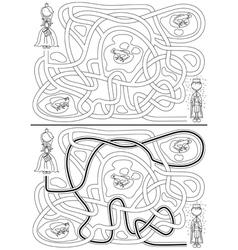 Princess maze vector
