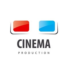 Logo glasses for viewing 3d movies vector
