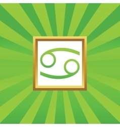 Cancer picture icon vector
