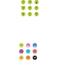 Cute bacteria or monster collection vector