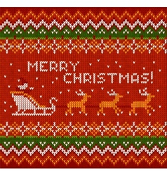Christmas knit in norway style vector