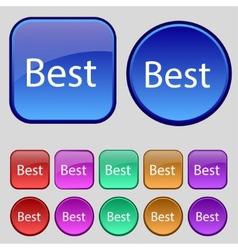 Best seller sign icon best-seller award symbol set vector