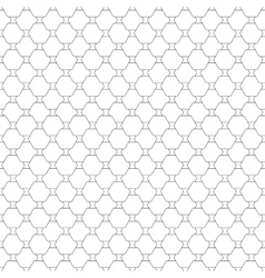 Seamless pattern with hexagons repeating modern vector