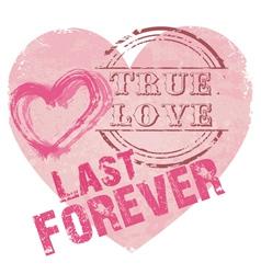 Heart shape true love vector