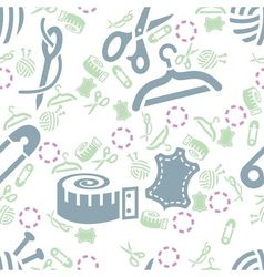 Sewing seamless pattern vector