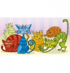 Cats group vector