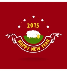 New year and lamb vector