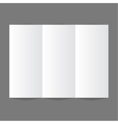 White stationery blank trifold paper brochure on vector