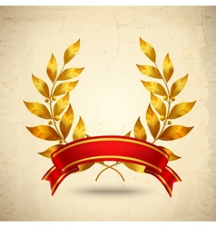 Laurel wreath realistic vector