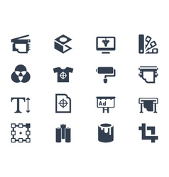 Printing icons vector