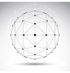 Abstract geometric 3d wireframe object modern vector