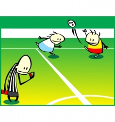 Soccer game vector