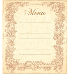Vintage restaurant menu vector