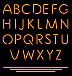 Realistic neon tube letters  neon alphabet vector