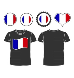T-shirt with the flag of france vector