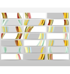 Abstract headers set wave design vector