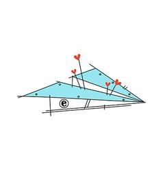 A paper plane vector
