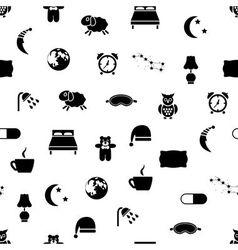 Sleep seamless pattern vector