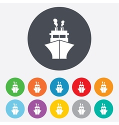 Ship or boat sign icon shipping delivery symbol vector