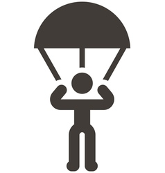 Parachute sport icon vector