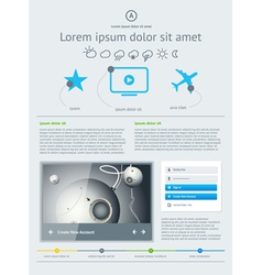 Elements of user interface for web vector