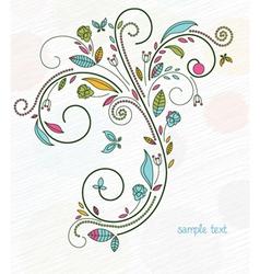 Doodles floral background vector