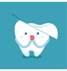 Tooth feel frighten because broken tooth vector