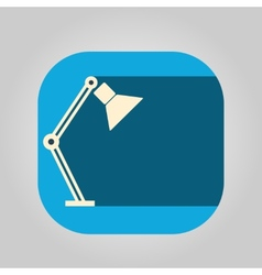 Icon table lamp on a colored background vector