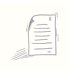 Sketched my document desktop icon vector