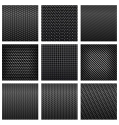 Carbon fiber seamless pattern backgrounds vector