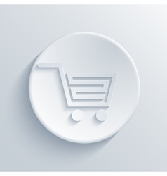 Modern light shopping circle icon vector