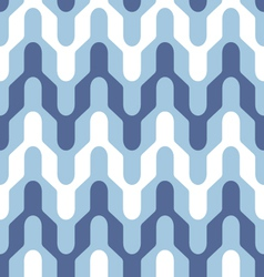 Blue and white saddle chevron vector