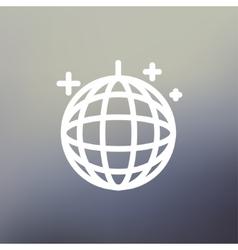 Disco ball thin line icon vector
