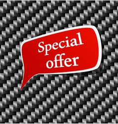 Special offer speech announcement vector