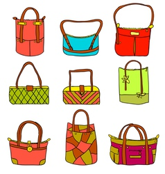 Collection of womans accessories vector