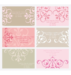 Floral business card set vector