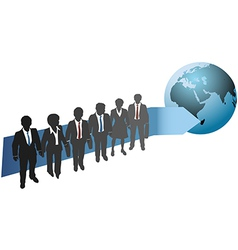 Business people work for global future vector