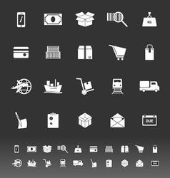 Shipment icons on gray background vector