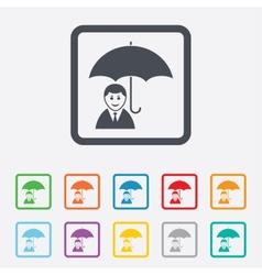 Human insurance sign icon person symbol vector
