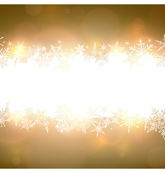 Golden christmas background with white copyspace vector