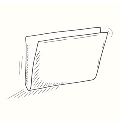 Sketched empty folder desktop icon vector