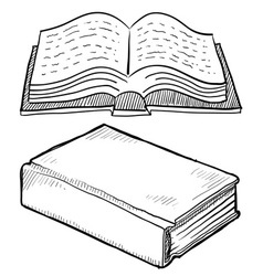 Doodle books vector