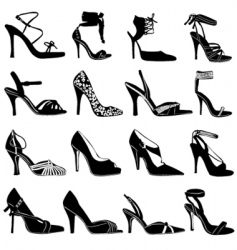 Fashion women shoes vector