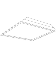 2x2 ceiling panel light image vector
