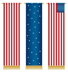 Usa wall hangings vector