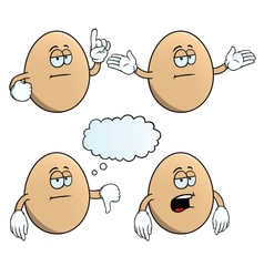 Bored egg set vector