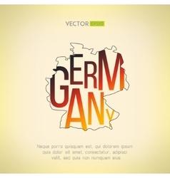 Germany map in vintage design german vector